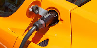 Low-carbon vehicles such as Tesla's pump in electric instead of petrol. (Image Credit: Windell Oskay via Flickr) Click to Enlarge.
