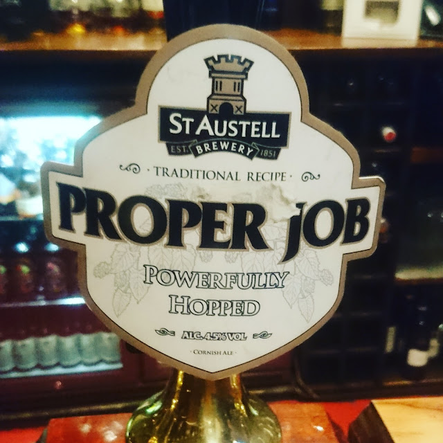 Cornwall Craft Beer Review: Proper Job from St. Austell real ale pump clip