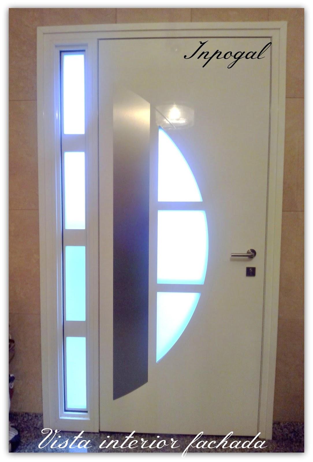 Puertas aluminio inpogal for Puertas entrada principal modernas