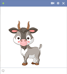 Goat sticker for Facebook