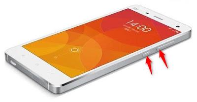 Screenshot Layar HP Xiaomi