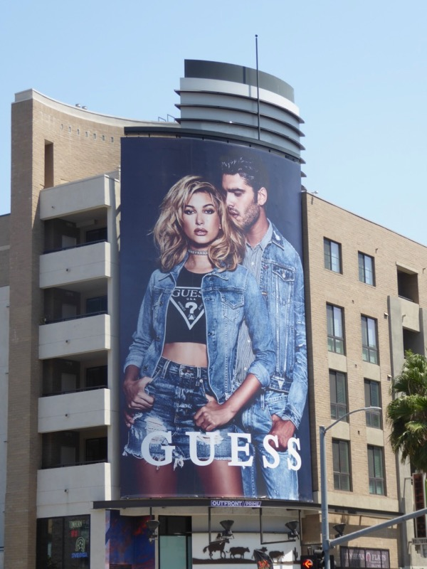 Guess denim Summer 2017 billboard