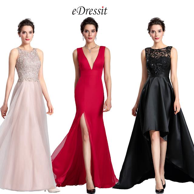 edressit halter neck embroidery bodice prom dress