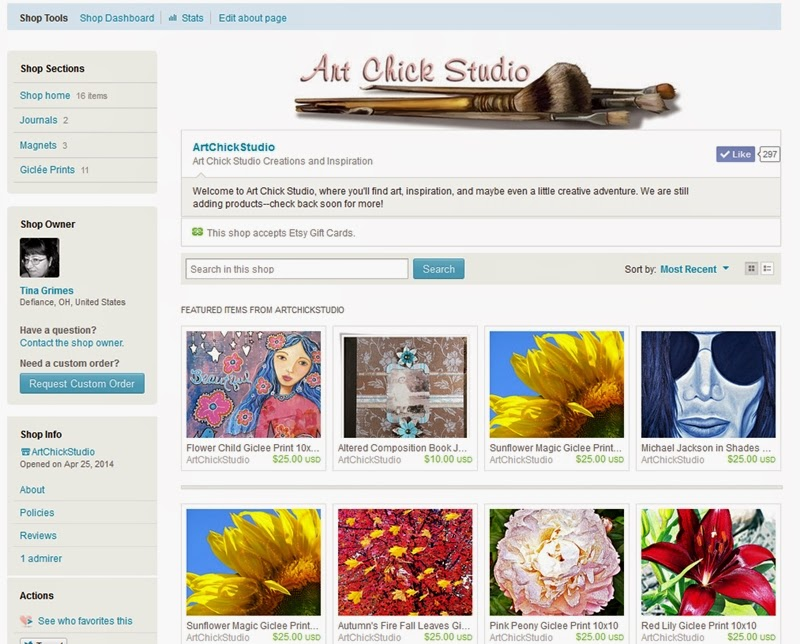Art Chick Studio Etsy Shoppe