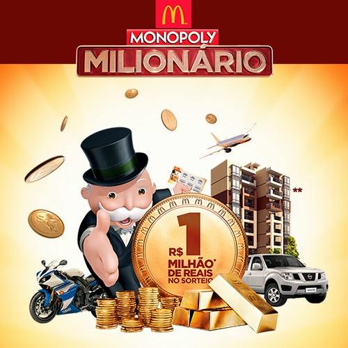 """Promoção """"Mcdonald's Milionário - Monopoly"""""""
