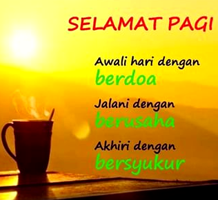 """100 Gambar Kata Ucapan Selmat Pagi Terbaru"""