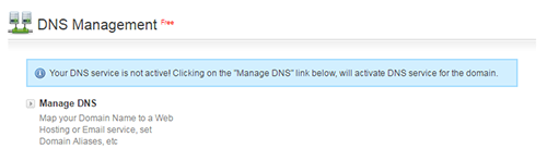 Manage DNS Option
