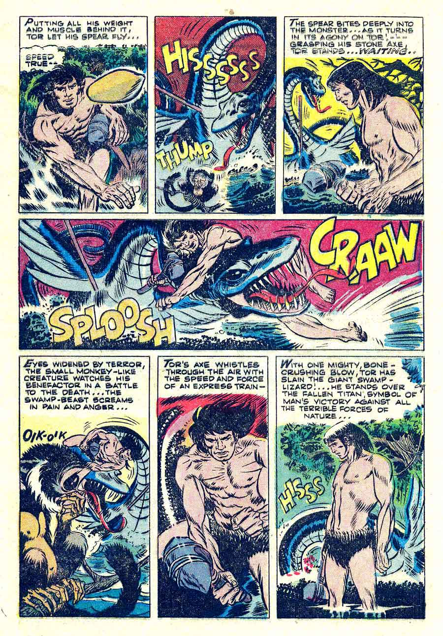One Million Years Ago v1 #1 st john golden age comic book page art by Joe Kubert