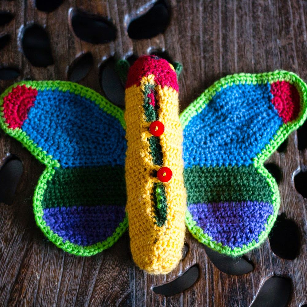 bottom of hungry caterpillar butterfly