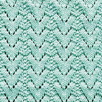 Eyelet Lace 61: Norwegian Fir | Knitting Stitch Patterns.