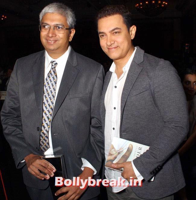 Aamir Khan, DP, Ranbir, Aamir at NDTV Indian of The Year Awards 2014
