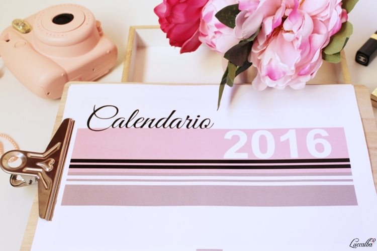 Calendario 2016 e Intax Mini8