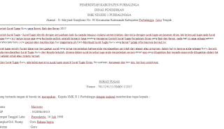 contoh surat tugas guru mengajar