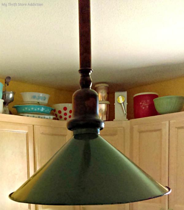 updated vintage barn light