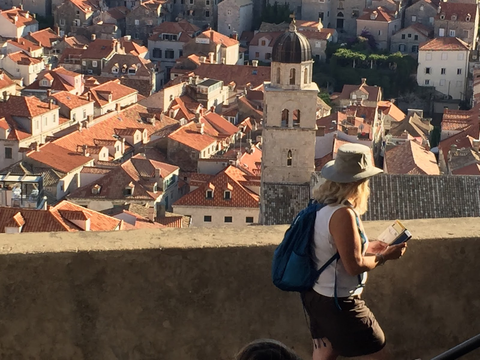 Gaye adams painting journal a view from atop the walls of dubrovnik solutioingenieria Images
