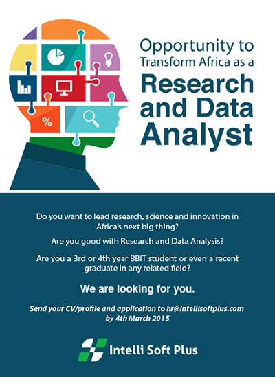 LATEST KENYAN JOBS AND VACANCIES: Research and Data Analyst