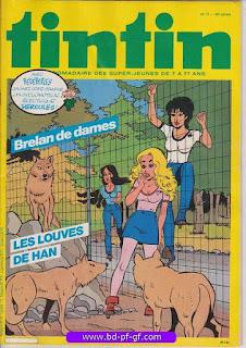Tintin-numéro 17, année 38,  1983, Brelan de dames