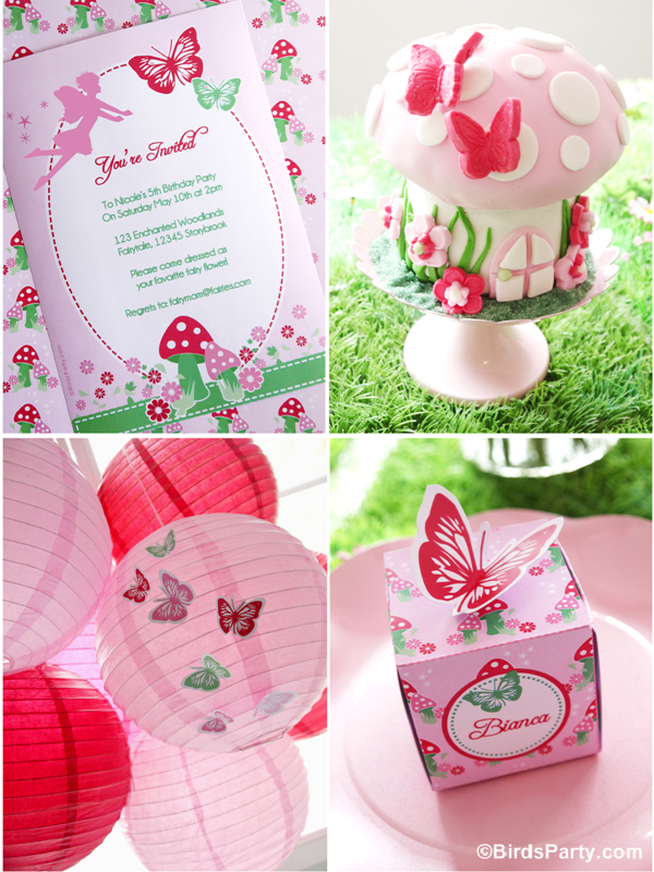 Pink Pixie Fairy Birthday Party Ideas - BirdsParty.com