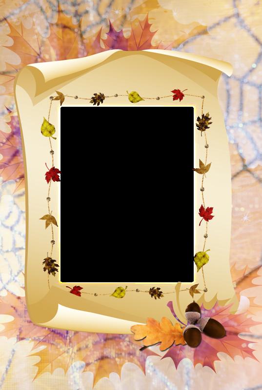 Рамка под открытку осенняя