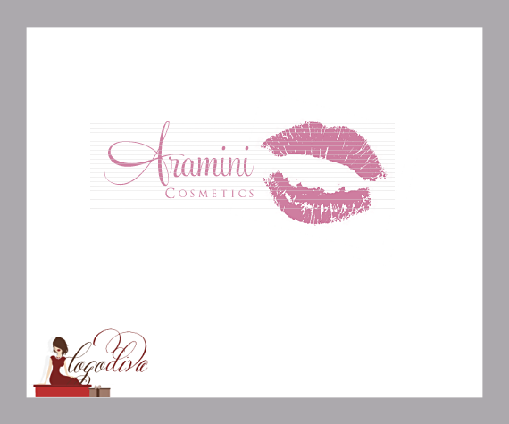 Exclusive Illustrated Lips Logo for Makeup Artist by Logo Diva www.logodiva.net