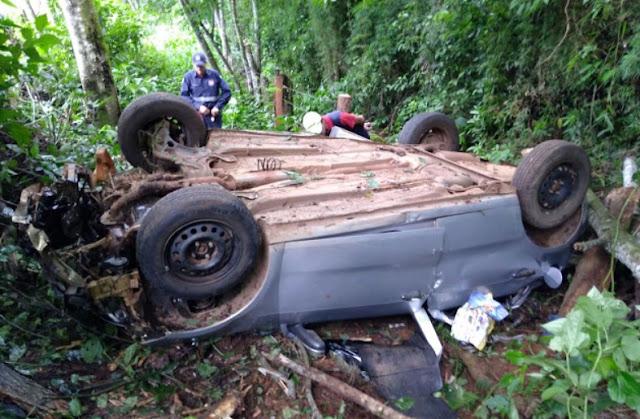 Manoel Ribas: Homem morre após capotar carro na PR-487