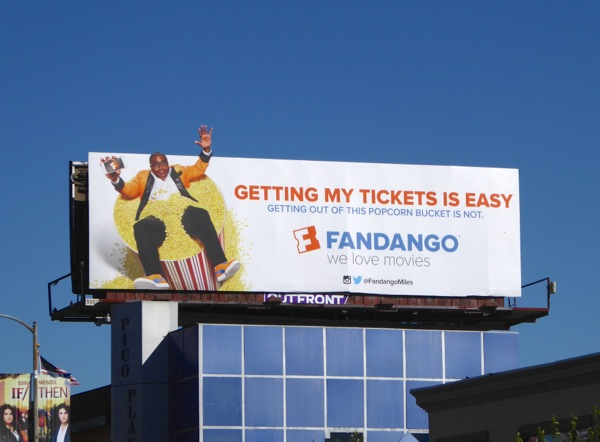 Fandango popcorn bucket special extension billboard