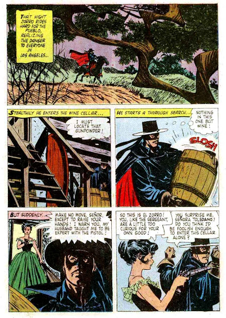 Zorro Four Color #976  1950s dell comic book page art by Alex Toth