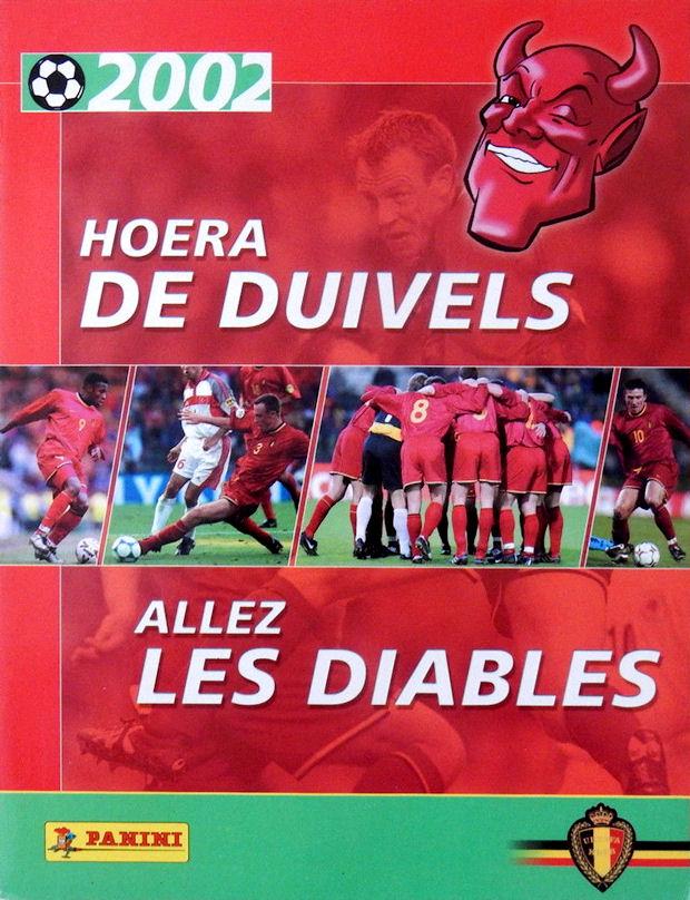 2002 hoera de duivels allez les diables panini belgium 48 stickers