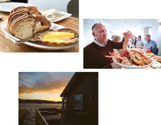 Malerisch: Essen direkt am Meer in Norwegen