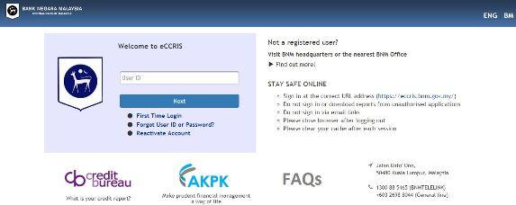 Semak report ccris online eccris