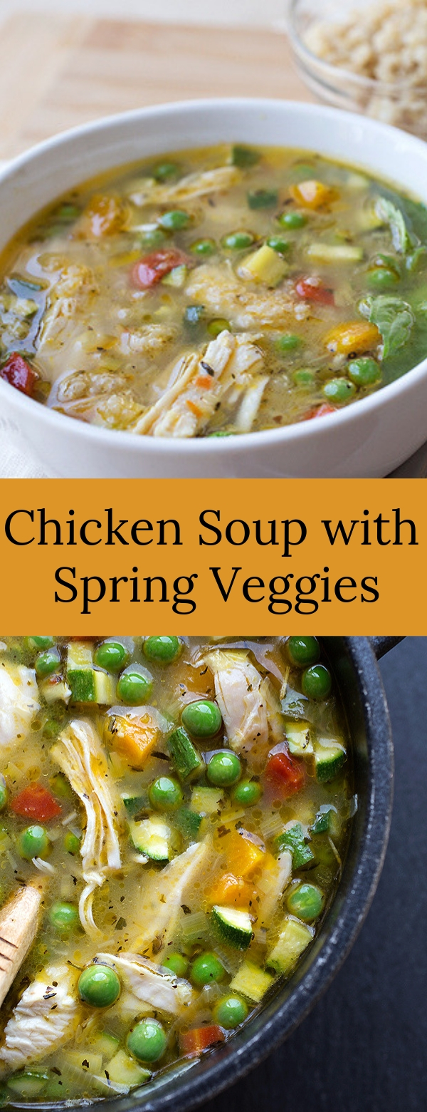 Chicken Soup with Spring Veggies