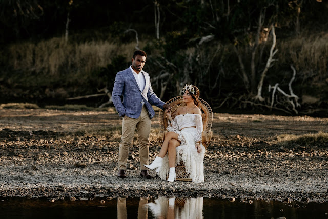 lucanna wild photography tannum sands bridal hair makeup floral design to the aisle australia