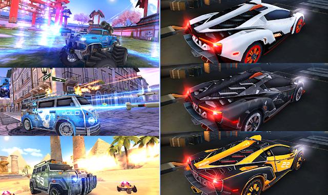 تحميل العاب سيارات ممتعة، العاب جديدة للاندرويد، سباق سيارات مع ضرب النار، حرب السيارات، لعبة Overload: 3D MOBA Car Shooting الجديدة، موقع اندرويد مصر، العاب مجانية، العاب موبايل 2017