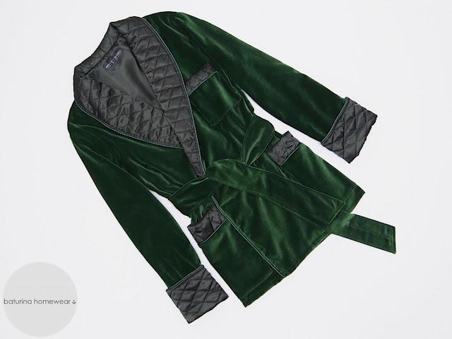 mens velvet smoking jacket warm soft traditioal luxury robe dressing gown english gentleman robes