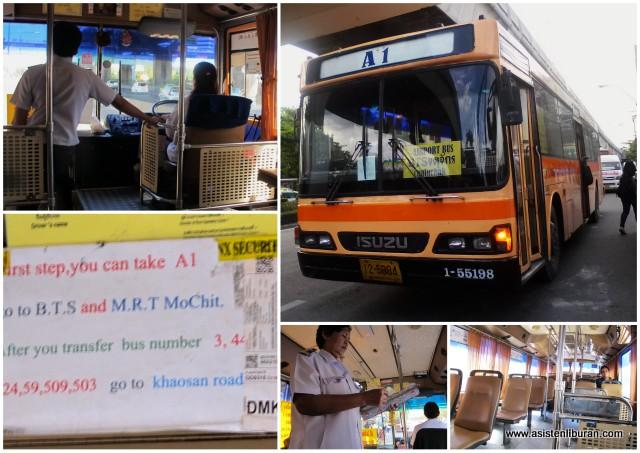 bus a1 a2 Don Muang Bangkok