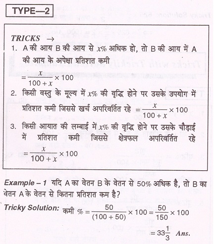 percentage notes in hindi pdf