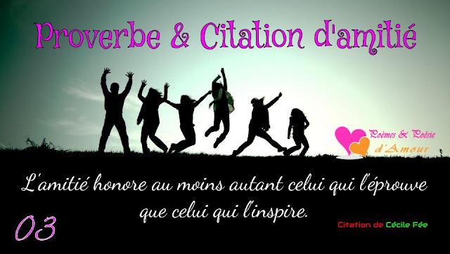 Citation de Cécile Fée : L'amitié honore au moins autant celui qui l'éprouve que celui qui l'inspire.