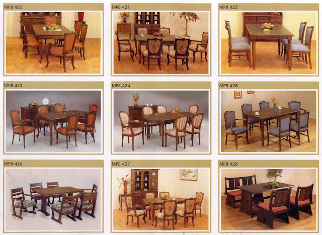 kursi meja makan set