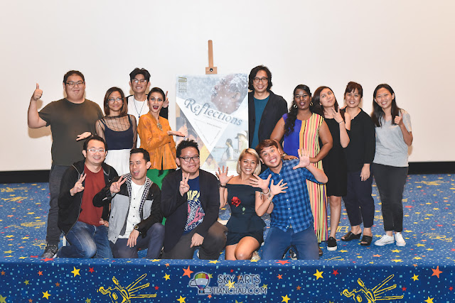 """Asian Three-Fold Mirror 2016: Reflections"" Malaysian Premiere @ GSC Mid Valley A group photos of the team including Director Isao Yukisada, actress Sharifah Amani, co-producers Woo Ming Jin and Edmund Yeo who took part in 'Pigeon' movie videoshoot"