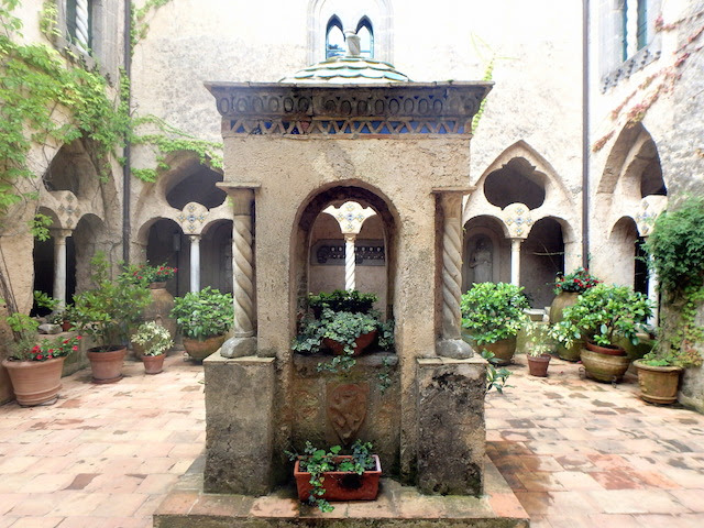 Cloister of Villa Cimbrone in Ravello
