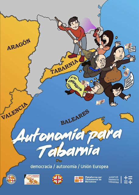 Cartel de Arran versionado para Tabarnia. Bcnisnotcat.es