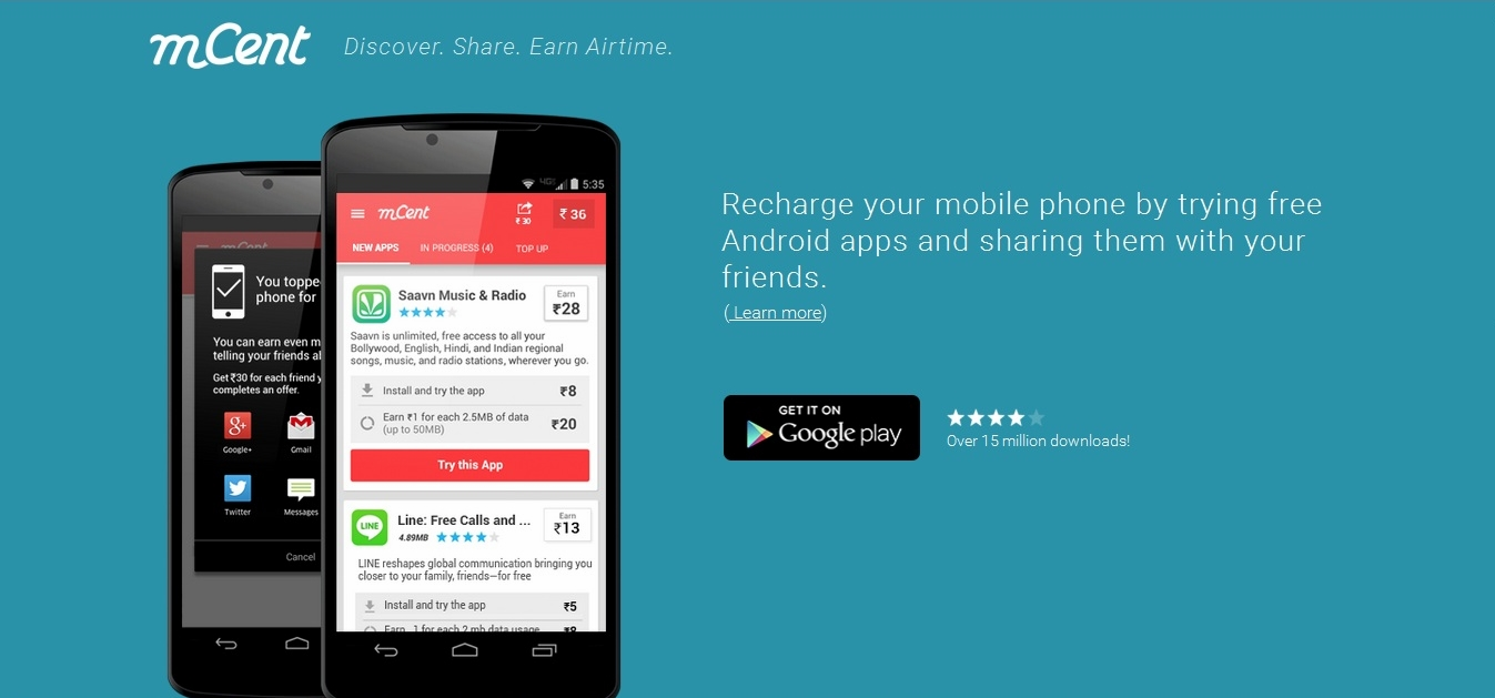 Mcent Free Mobile Recharge S For Android To Earn Talktime