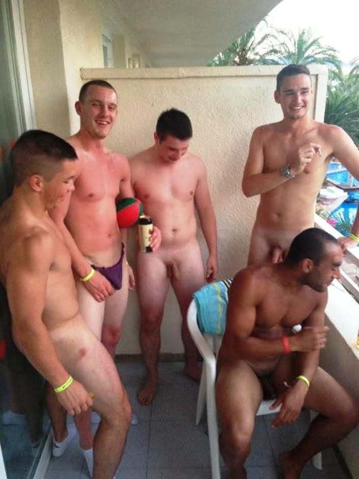 Naked Frat Boys Frat Boys Naked On The Balcony-1061