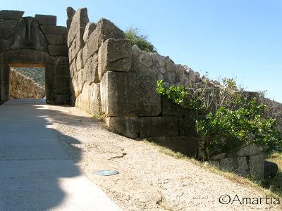 Porte des lions Mycènes  Argolide Peloponnese Grèce