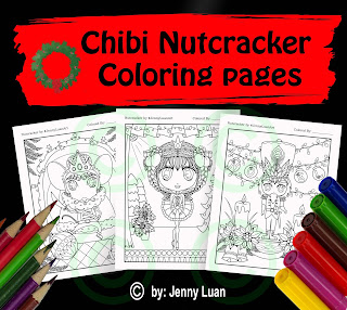 chibi nutcracker coloring page