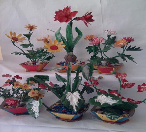 Cách làm đồ chơi sáng tạo mầm non Vườn hoa của bé