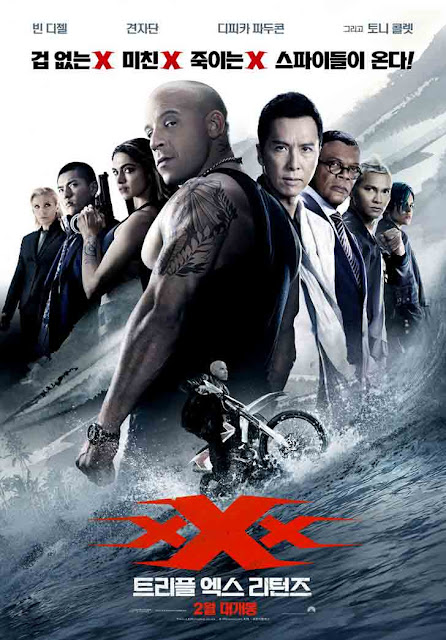 xXx Return Of Xander Cage 2017 Hindi Dubbed DVDRip 900MB Poster