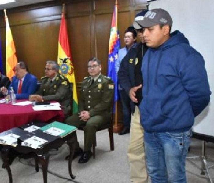Casanova fue presentado como autor del hecho por la Policía y el Ministerio de Gobierno el 31 de mayo de 2018 / ARCHIVO WEB