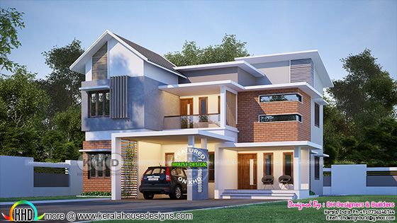 2330 sq-ft 4 bedroom mixed roof modern home