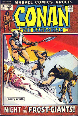 Conan the Barbarian v1 #16 marvel comic book cover art by Barry Windsor Smith